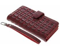 Rood Krokodil Wallet Case Motorola Moto G4 (Plus)
