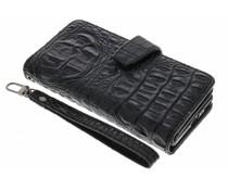 Zwart Krokodil Wallet Case Sony Xperia XA