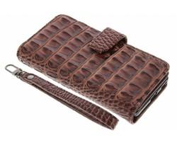 Bruin Krokodil Wallet Case Sony Xperia XA