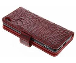 Rood Krokodil Wallet Case Sony Xperia XA
