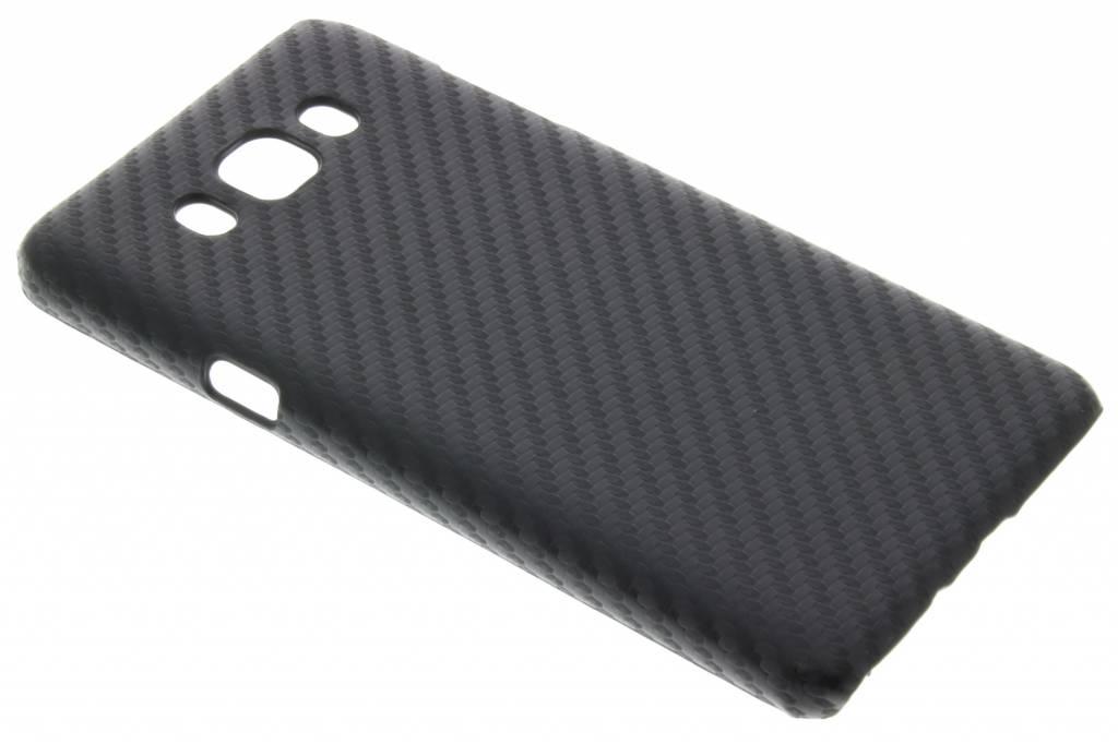 Zwart Carbon look hardcase hoesje voor de Samsung Galaxy J7 (2016)
