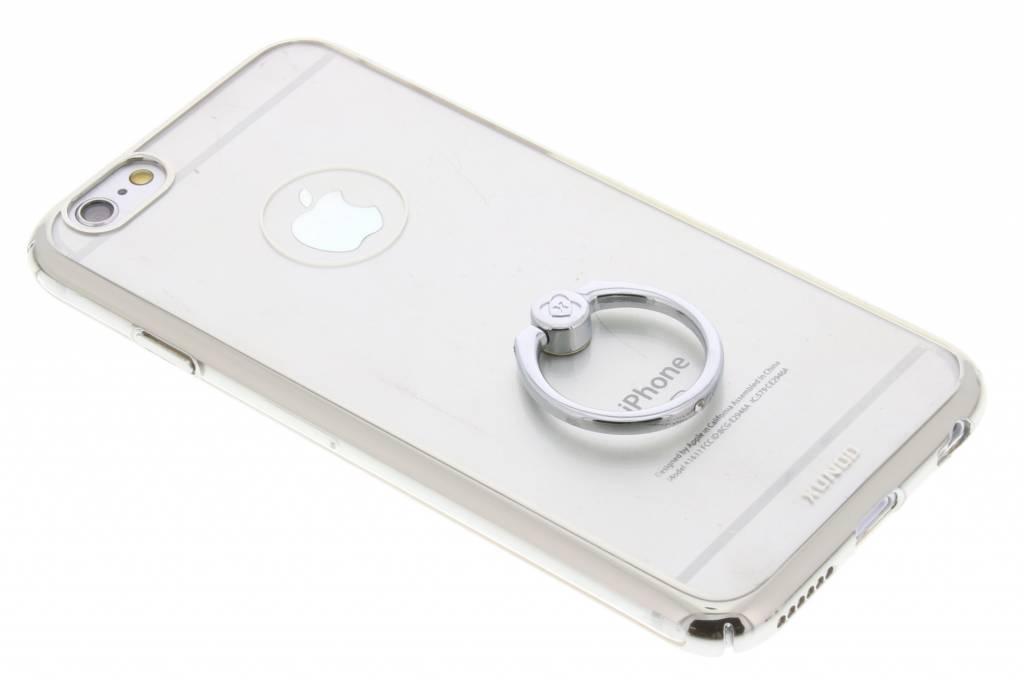 Zilver transparant hardcase hoesje met ring voor de iPhone 6(s) Plus