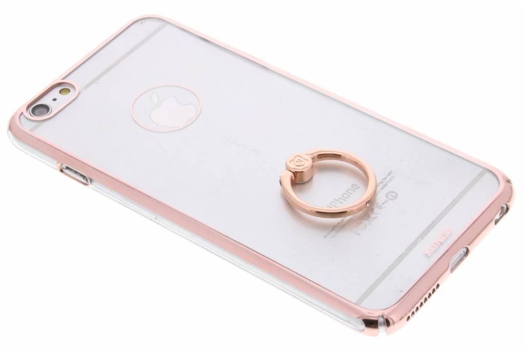 Rosé goud transparant hardcase hoesje met ring voor de iPhone 6(s) Plus