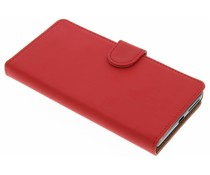 Rood effen booktype hoes Sony Xperia E5