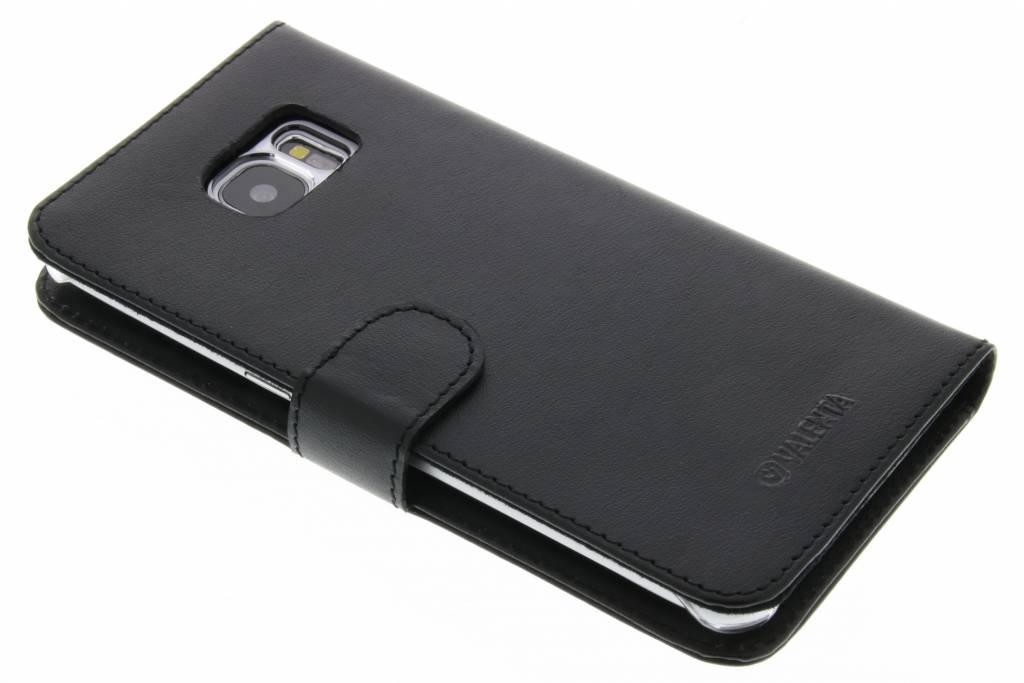 Valenta Zwarte Booklet Classic Luxe voor de Samsung Galaxy S7 Edge