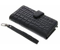 Zwart Krokodil Wallet Case Samsung Galaxy Note 2