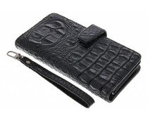 Zwart Krokodil Wallet Case Motorola Moto G4 (Plus)