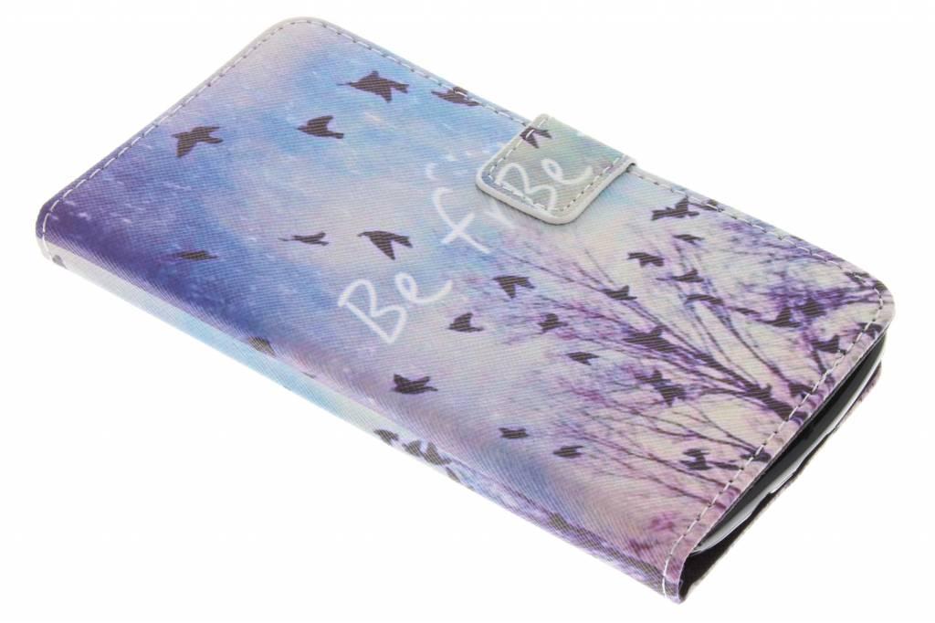 Be free design TPU booktype hoes voor de LG K8