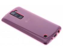 Roze transparant gel case LG K8