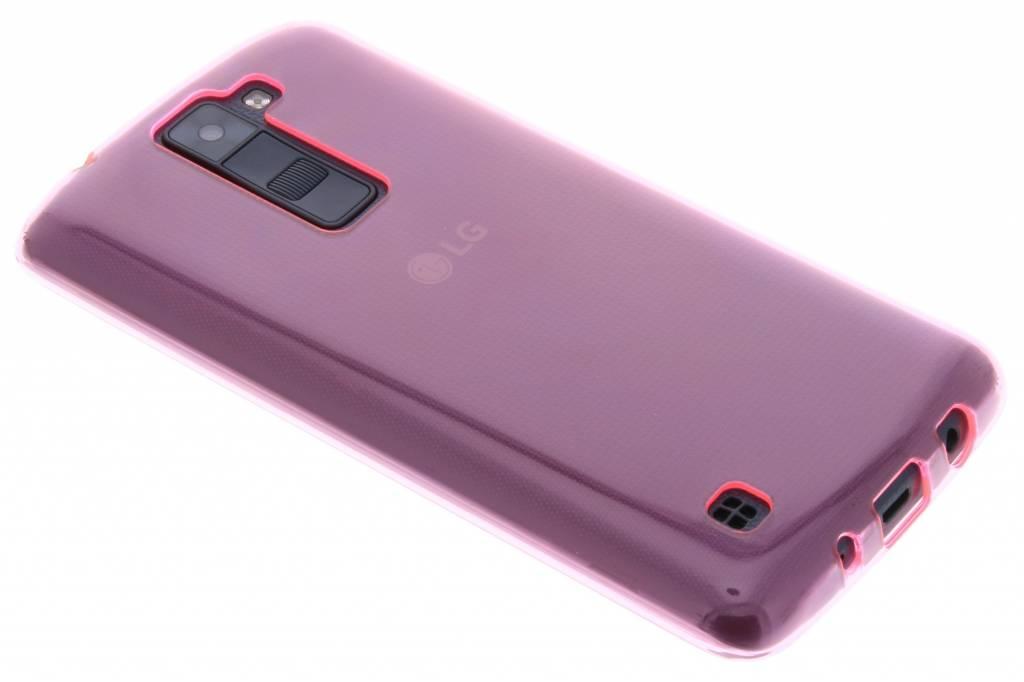 Roze transparante gel case voor de LG K8