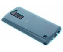 Turquoise transparant gel case LG K8