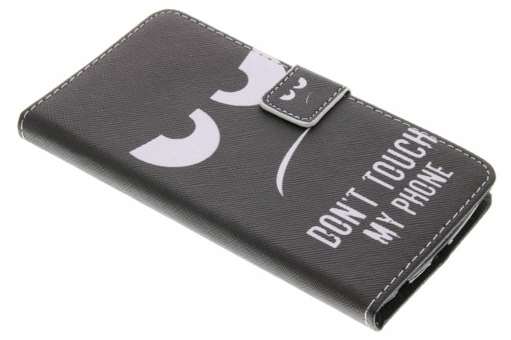 Don't touch design TPU booktype hoes voor de LG K10