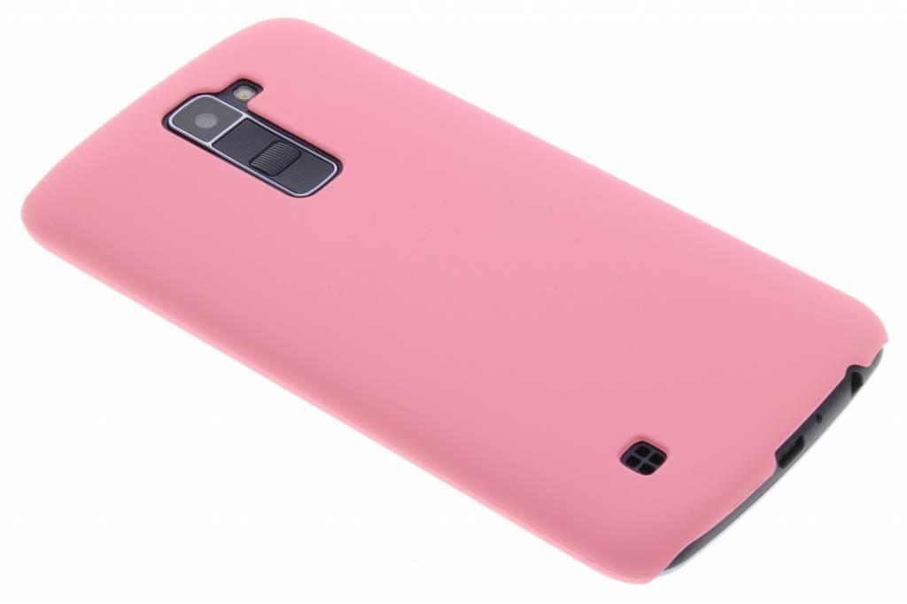 Roze effen hardcase hoesje voor de LG K10