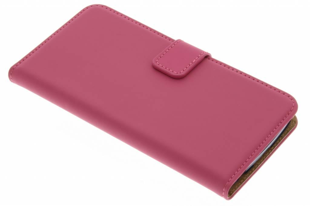Selencia Luxe Book Case voor de LG K10 - Fuchsia