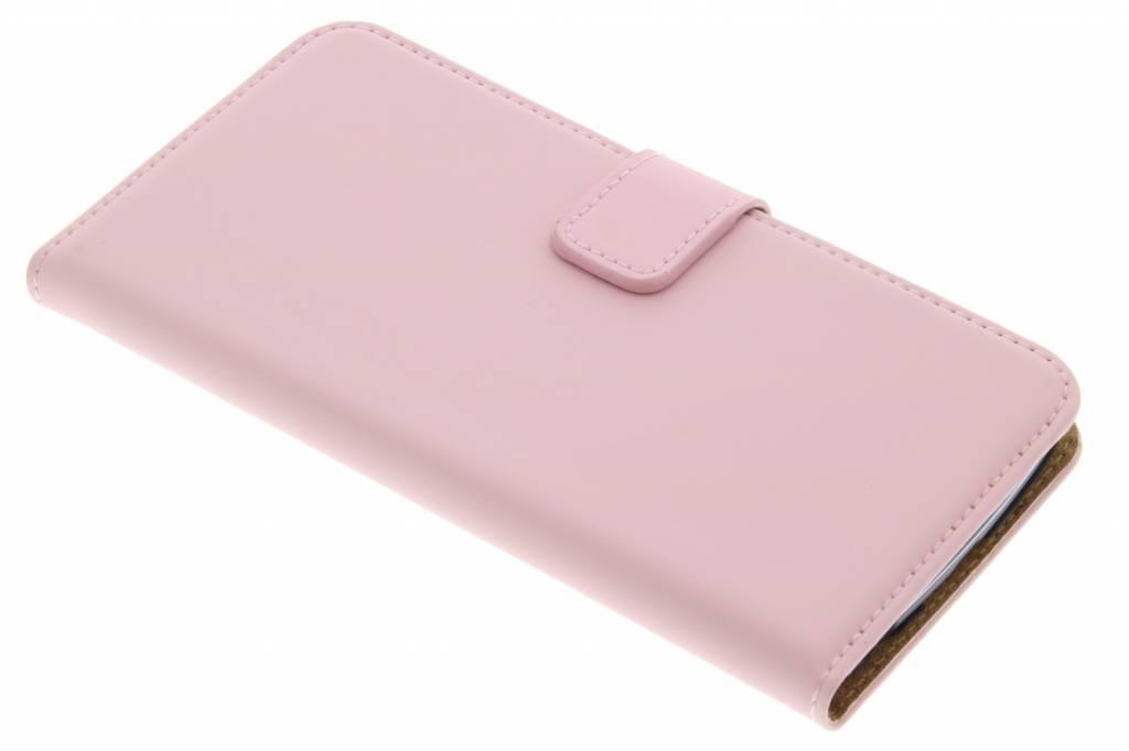 Selencia Luxe Book Case voor de LG K10 - Poederroze