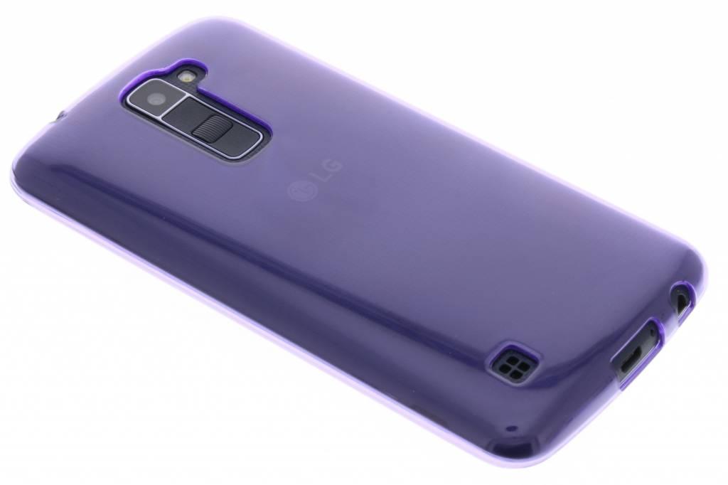 Paarse transparante gel case voor de LG K10