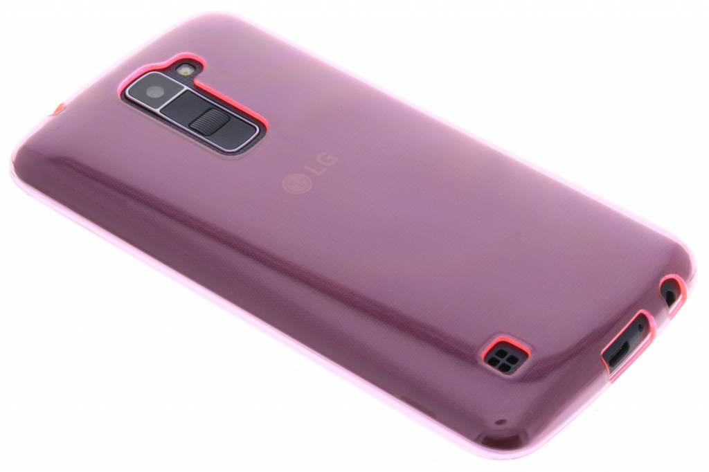 Roze transparante gel case voor de LG K10