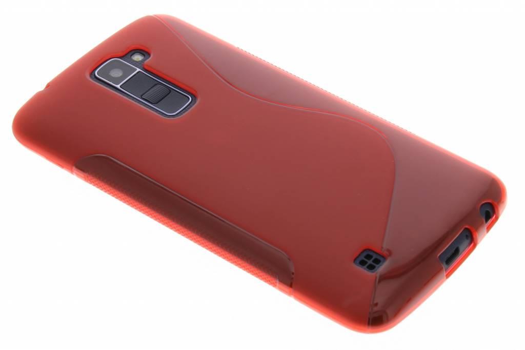 Rood S-line TPU hoesje voor de LG K10