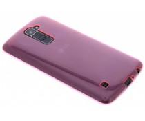 Roze ultra thin transparant TPU hoesje LG K10