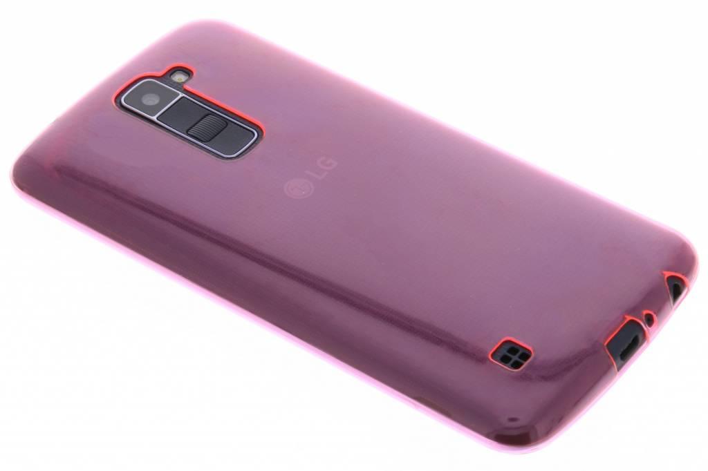 Roze ultra thin transparant TPU hoesje voor de LG K10
