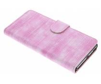Roze hagedis design booktype hoes Sony Xperia XA