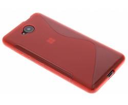 Rood S-line TPU hoesje Microsoft Lumia 650