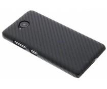 Zwart carbon look hardcase hoesje Microsoft Lumia 650