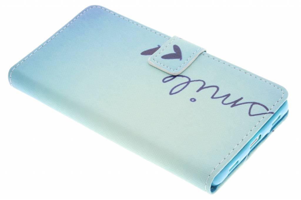Smile design TPU booktype hoes voor de Huawei P8