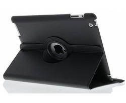 Zwart 360° draaibare hoes iPad 2 / 3 / 4