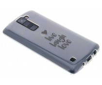 Quote design TPU hoesje LG K8