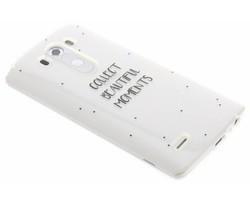 Quote design TPU hoesje LG G3