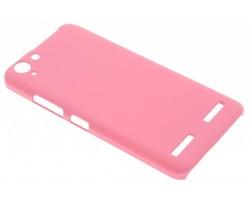 Roze effen hardcase hoesje Lenovo K5