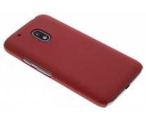 Rood effen hardcase hoesje Motorola Moto G4 Play