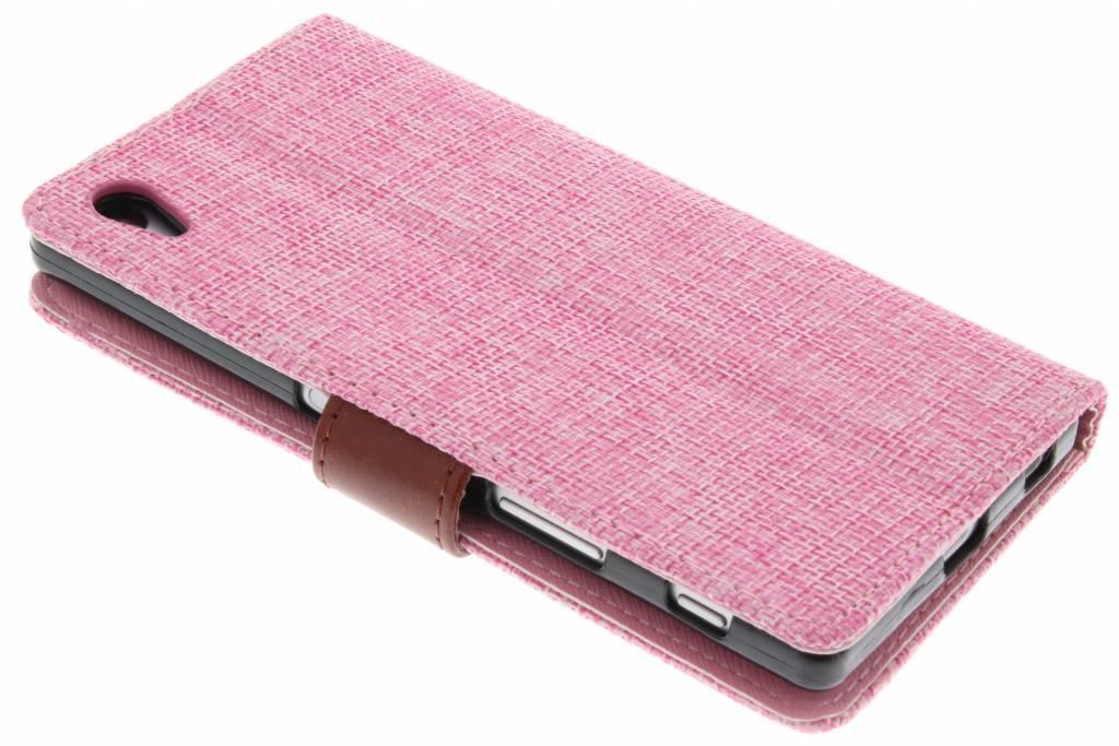 Saumon Rose Linge Couverture De Type Lookbook Pour Sony Xperia Z5 DkL6s