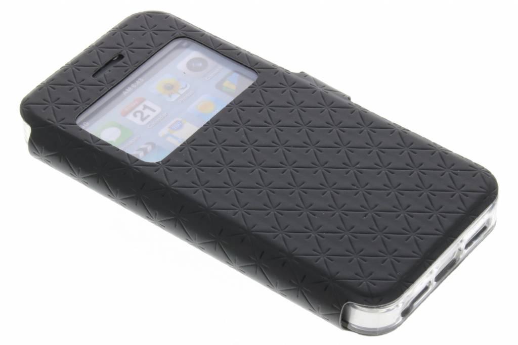 Zwart Rhombus hoesje voor de iPhone 5 / 5s / SE