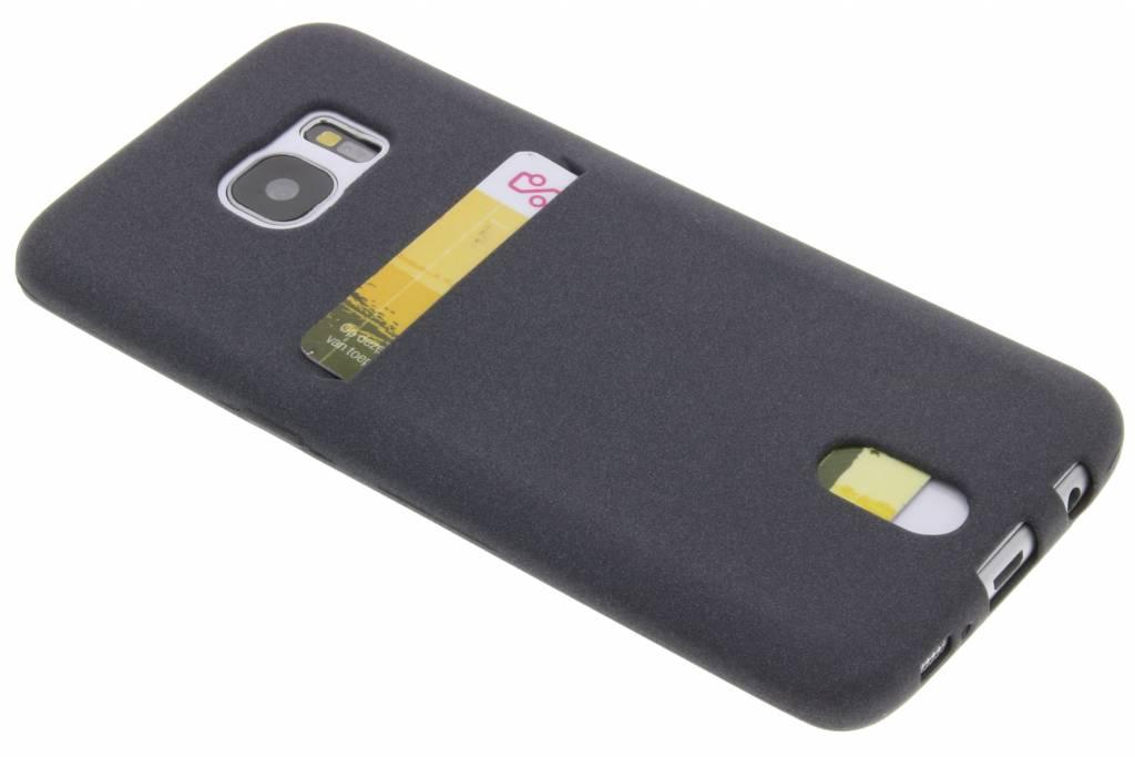 Grijze TPU Siliconen card case voor de Samsung Galaxy S7 Edge
