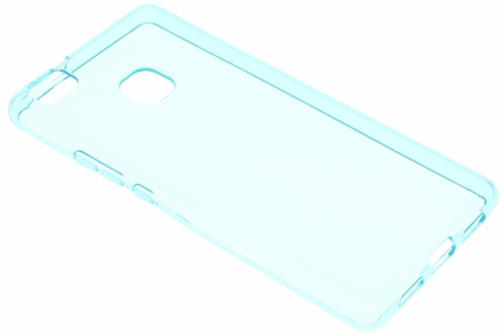Turquoise transparante gel case voor de Huawei P9 Lite