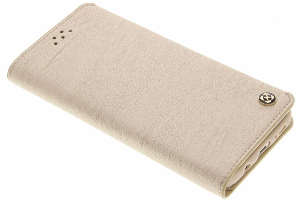 Gouden wallet TPU booktype hoes voor de Samsung Galaxy S7 Edge