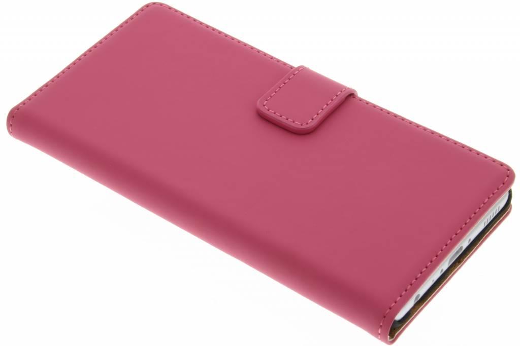 Selencia Luxe Book Case voor de Huawei P9 - Fuchsia