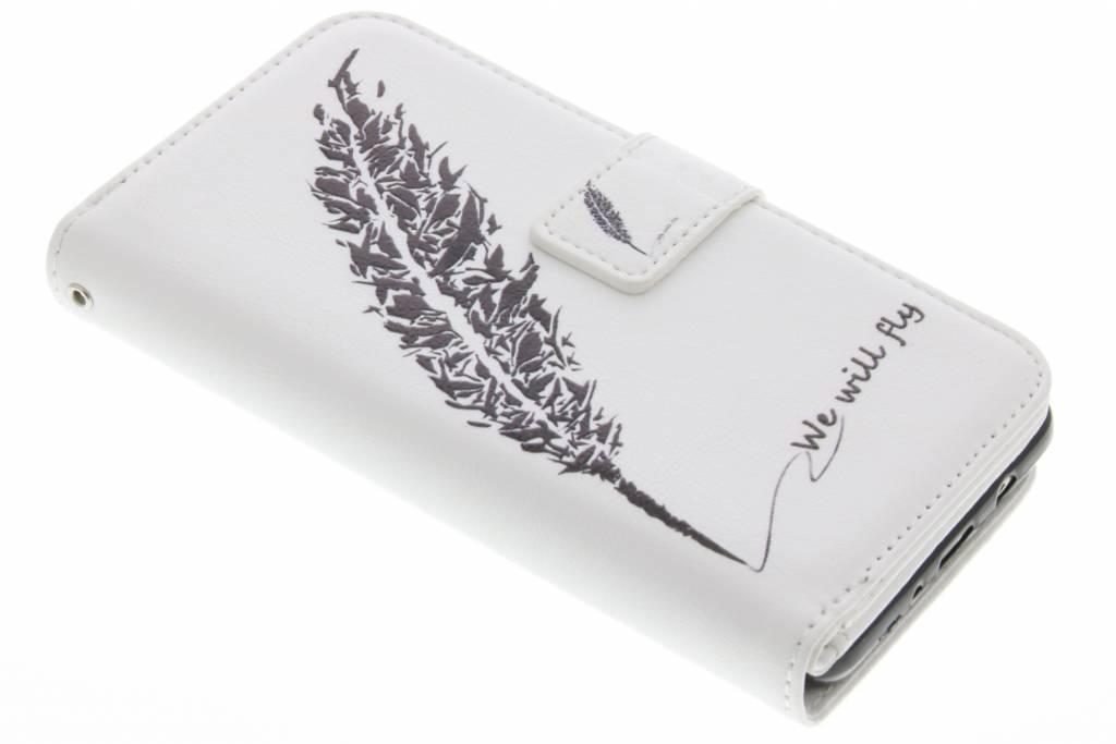 Veer design TPU portemonnee voor de Samsung Galaxy S7 Edge
