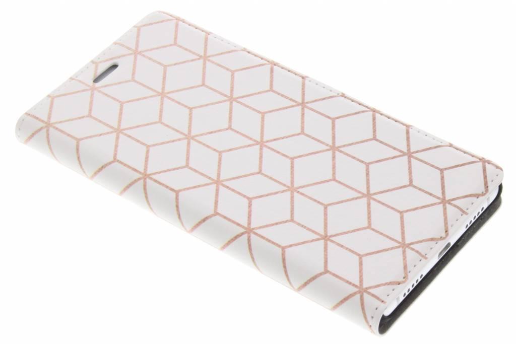 Cubes Rose Gold Design Booklet voor de Huawei P9 Lite