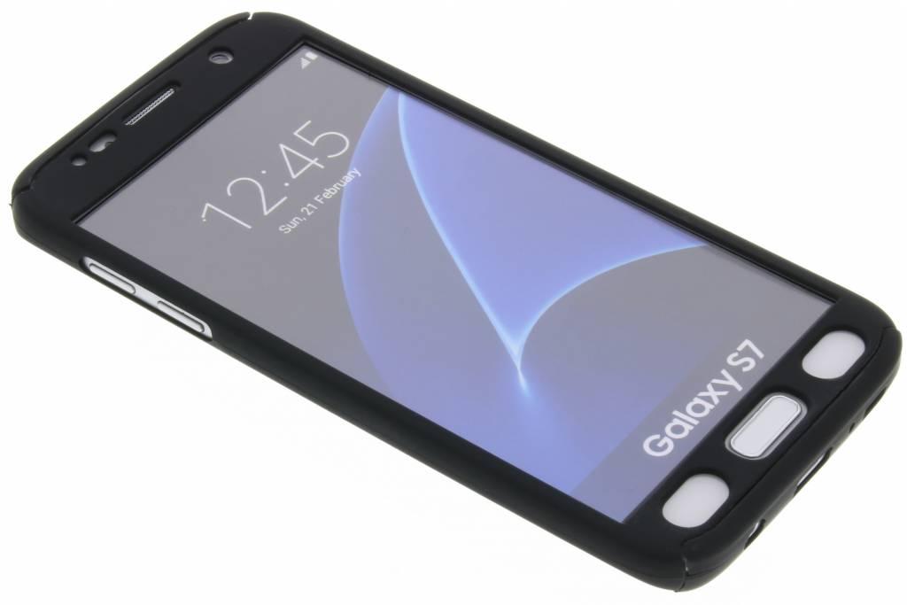 Zwarte 360° effen protect case voor de Samsung Galaxy S7