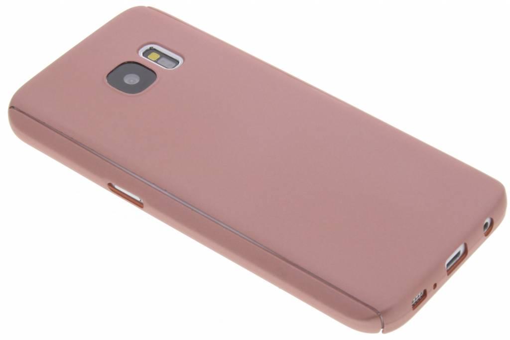Roze 360° effen protect case voor de Samsung Galaxy S7