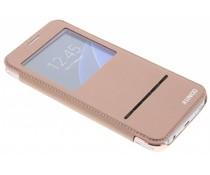 Crystal slim book case met venster Samsung Galaxy S7
