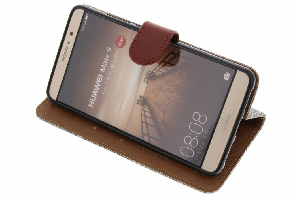 Lin Gris Foncé Regard Manches De Type Livre De Tpu Pour Le Degré Huawei 9 XWnZZ2x