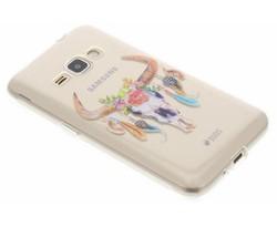 Bull Skull design TPU hoesje Samsung Galaxy J1 (2016)