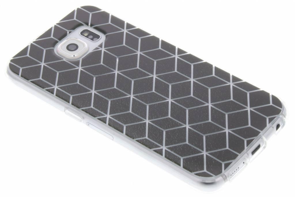Cubes Black design TPU hoesje voor de Samsung Galaxy S6
