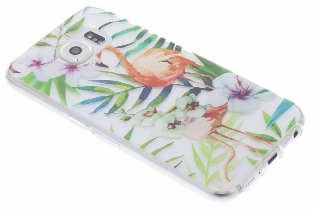 Flamingo design TPU hoesje voor de Samsung Galaxy S6