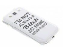 Quote design TPU hoesje Samsung Galaxy S3 / Neo
