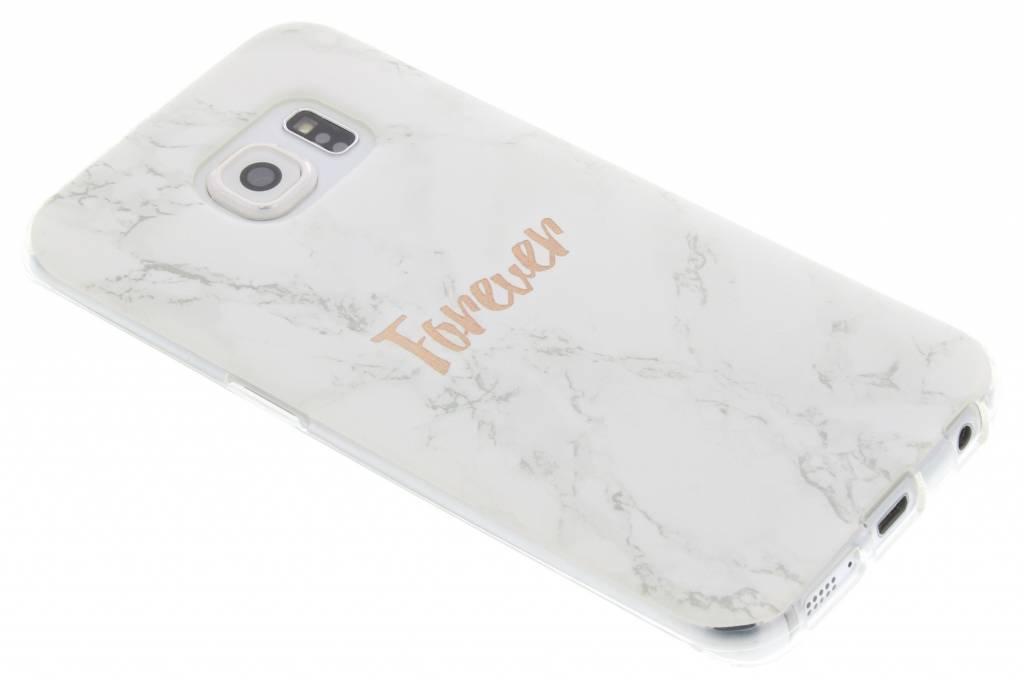 BFF White Marble Love TPU hoesje voor de Samsung Galaxy S6 Edge
